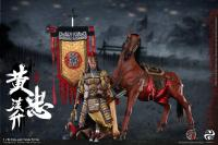 General Huang Zhong 黃忠 A.K.A Hansheng On Horseback The Three Kingdoms DELUXE Sixth Scale Collector Action Figure Set